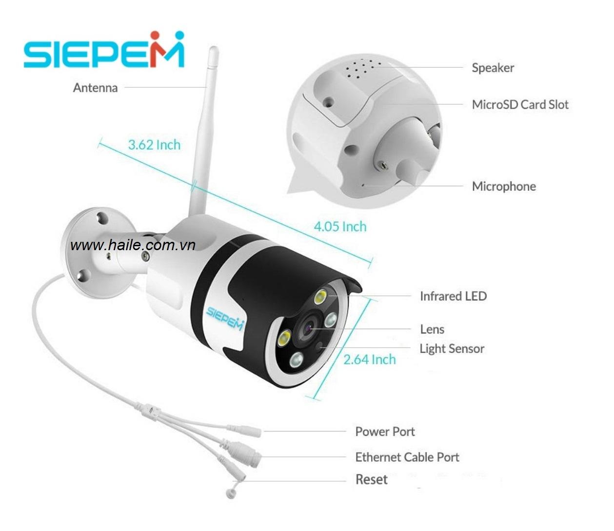 Camera wifi Sipem